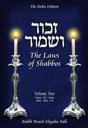 Zachor V'Shamor - Laws of Shabbos Vol. 2