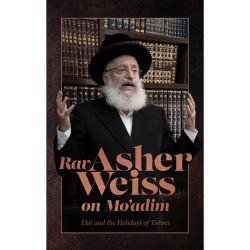Rav Asher Weiss on Mo'adim - Elul and the Holidays of Tishrei