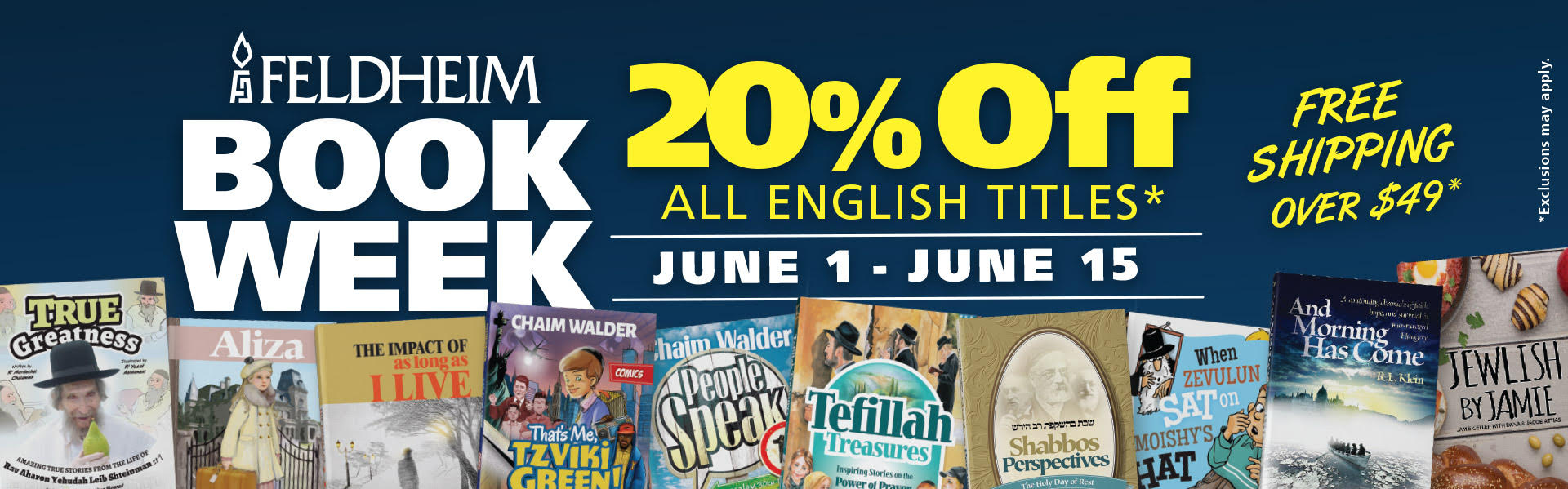 BOOK WEEK BEGINS! 20% off most English Titles